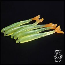 Drop shot lure soft rubber LEMON TANG shad for perch pike trout UK 1st