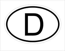 D Germany Country Code Oval Sticker Decal SelfAdhesive german Car Body Decal