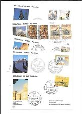 ITALY-10 good First Flight covers-all different Lufthansa legs(1980s)