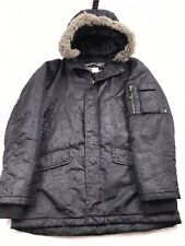 Authentic STUSSY Insulated Faux Fur Hooded Jacket Mens Medium Winter vtg 90s