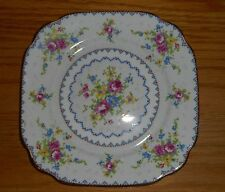 "Royal Albert ""Petit Point"" White China Square Salad Plate. 7-5/8"" Fast Shipping!"
