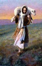 Morgan Weistling THE LORD IS MY SHEPHERD - 14x11 double matted print, Jesus Art