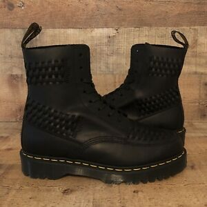 NEW RARE Doc Dr Martens 1460 PASCAL BEX WOVEN Luxor Black Boot Mens's Size 12