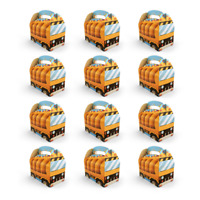 Yellow Construction Zone Party Favor Treat Boxes Candy Fillers Loot Bags