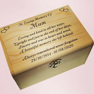 Keepsake Gifts For Dad Mum Son Grandad Ashes In Loving Memory Memorial Memories