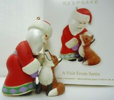 New listing Hallmark 2012 A Visit From Santa Collectible Christmas Ornament New