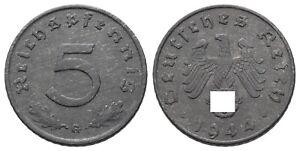 Deutschland - Drittes Reich - 5 Reichspfennig 1944 G, J 370 - VZ