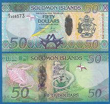 Solomon Islands 50 Dollars P New 2013 UNC Low Shipping! Combine FREE! P- 35