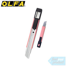 OLFA 203BSB PINK 12.5MM UTILITY KNIFE + BLADES (STANLEY , SNAP OFF BLADE)