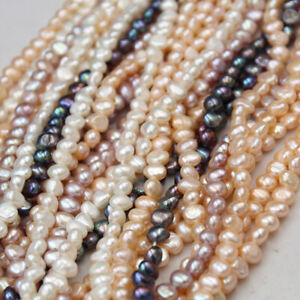 4-9mm Natural Freshwater Pearls Jewelry Baroque Loose Round Beads Making DIY New