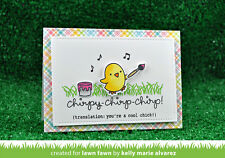 Lawn Fawn clear acrylic stamps & metal dies - CHIRPY CHIRP CHIRP, Baby, Easter