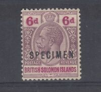 British Solomon Islands 1924 SPECIMEN O/P Mint On Card J1328