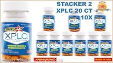 Stacker 2 XPLC 20 Capsules Bottles Weight Loss & Energy Diet (Lot of 10 Bottles)
