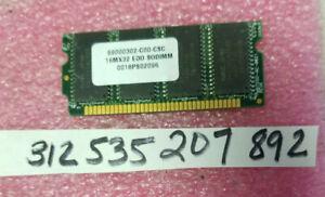 64MB EDO  SINGLE RANK  60NS SIMM  SODIMM 72-PIN 5V 16MX32  8x8 1RX8 UNBUFFERED