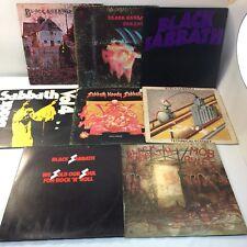 Lot Of 8 Black Sabbath Vinyl LPs Records Heavy Metal Rock Paranoid Vol. 4