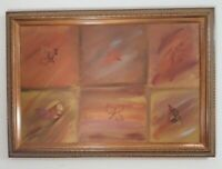 MARIE GUITERREZ OIL PAINTING ON CANVAS. BEAUTIFUL FRAME FALL COLORS! LARGE 29X41