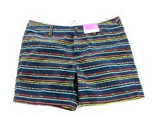 Merona Womens 4 Shorts 100% Cotton Muilti Colored dotted striped New with tags