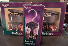 Two (2) Park Avenue Automatic Rotating Racks Tie-Matics + Rotating Belt Butler