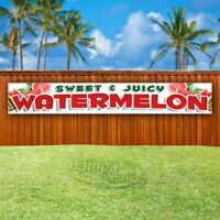 SWEET & JUICY WATERMELON Advertising Vinyl Banner Flag Sign LARGE HUGE XXL SIZES
