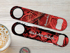 Bad Ass Bitch Red Personalized Bartender Bar Blades Custom Speed Bottle Openers