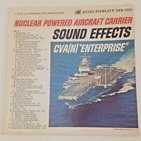 Nuclear Powered Aircraft Carrier Sound Effects CVA Enterprise DFS 7014 LP Vinyl