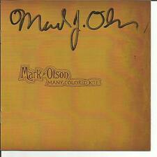 Jayhawks MARK OLSON Signed AUTOGRAPHED CD Booklet Cover MINT 2010 USA Seller