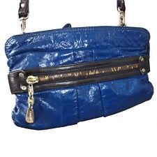 SEE BY CHLOE Blue Leather Cross Body Handbag Purse Clutch Shoulder Bag