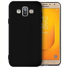 Handy Cover Case für Samsung Galaxy J7 Duo (2018) Hülle Bumper TPU Matte Schwarz