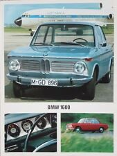 BMW 1600 USA Market Large Format Brochure Leaflet 1967