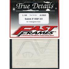 DECALCOMANIE DECALS FAST FRAMES HASEGAWA SABRE F-86F-30 1:48 TRUE DETAILS 41023