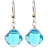 Kylie LONDON BLUE TOPAZ Single Gemstone EARRINGS Anna Balkan Sterling Silver