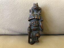 Antique Japanese Edo Boxwood Netsuke, Shoki And Oni, Signed