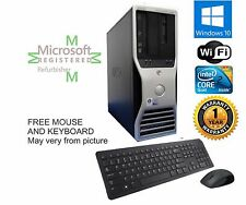Dell T3400 TOWER PC COMPUTER DESKTOP Intel C2D Quad 2.40GHz 8GB 1TB Win 10 Pro64