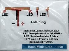 Hoch Miniaturen Spur N 1:160 Oranlichtbalken LED, mit 2 Rundumleuchten Einsatz