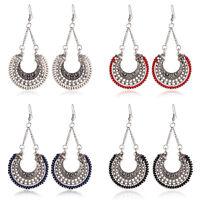 Bohemia Retro Women Lady Hemp Rope Ear Hook Dangle Earrings Drop Fashion Jewelry
