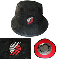 Mitchell & Ness Portland Trail Blazers Bucket Hat Denim Black Casual Summer Cap
