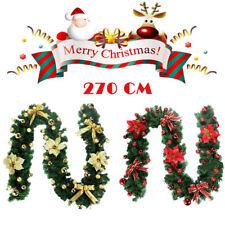 Weihnachtsgirlande DIY Weihnachtsrattan Girlande Künstlich Tannengirlande 270CM
