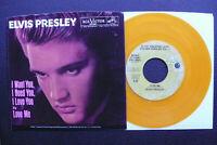 "7"" Elvis Presley - Love Me/ I Want You  - USA RCA Gold Vinyl"