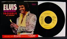 ELVIS PRESLEY-Trouble-Near Mint Picture Sleeve & Promo 45-RCA VICTOR #PB-10278