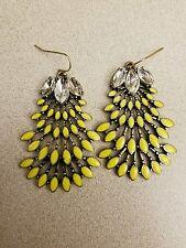 Stella Designer Style Norah Chandelier Yellow Leaf Dot Earrings US Sellr