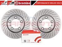 FOR PORSCHE 911 3.4 CARRERA FRONT CROSS DRILLED BRAKE DISCS BREMBO BRAKE PADS