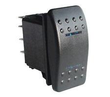 IP68 Boat Car Rocker Switch (On)-off-(on) Momentary Blue LED DPDT 7pin 12V/24V