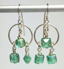 """Cushion Rainbow Beads SF Wire Drop Earrings  1 & 3/4"""" x 3/4""""  Handmade"""