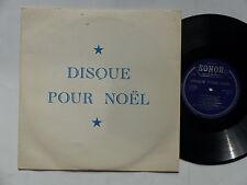 """25 cms 10"""" Disque pour Noel SONOR SA Journal La Suisse Carillons orgue cloches"""