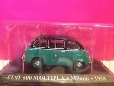 SUPERBE TAXI FIAT 600 MULTIPLA MILANO 1958 NEUF SOUS BLISTER 1/43 K7