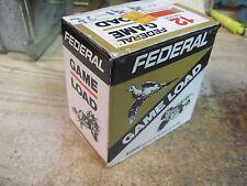 FEDERAL SHOTGUN SHELL BOX GAME LOAD EMPTY PAPER shot 12 gauge  CARTRIDGE