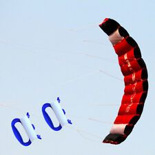 NEW 1.8m Dual Line Parafoil Parachute Stunt Sport Beach Kite Outdoor Sports Toy