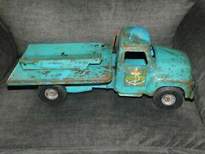Vintage Buddy L Marine Supplies Dock Co Pressed Steel Truck SCARCE All Original