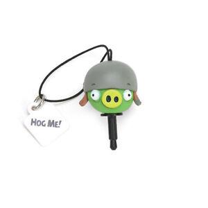 Angry Birds Helmet Pig Cellphone Charm Audio Jack Plug Cover