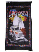 3x5 The American Way Trucker Truck Eagle Black Flag 3'x5' Banner Brass Grommets